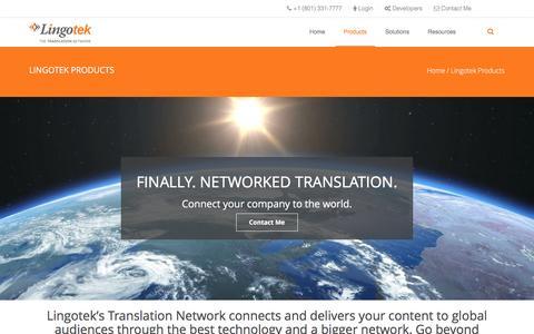 Screenshot of Products Page lingotek.com - Lingotek Cloud-Based Translation Management System | Lingotek - captured July 4, 2016