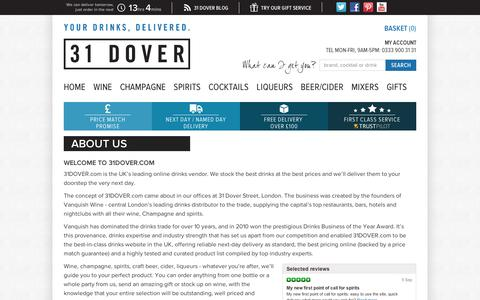 Screenshot of About Page 31dover.com - About Us | 31DOVER - captured Sept. 10, 2014