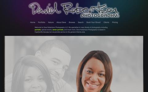 Screenshot of Home Page daverobertson.net - Dave Robertson Photography LLC - captured Feb. 8, 2016
