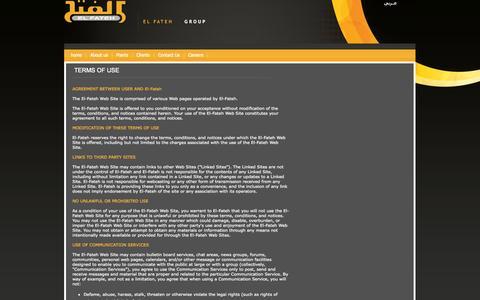 Screenshot of Terms Page elfateh.com - home - captured Oct. 2, 2014