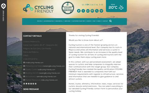Screenshot of Contact Page cycling-friendly.com - Contact | Cycling Friendly - captured Oct. 18, 2018