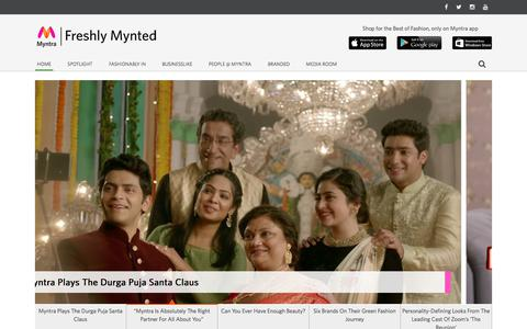 Screenshot of Blog myntra.com - Myntra: Myntra Blog ,Freshly Mynted – Myntra.com - captured Sept. 19, 2018