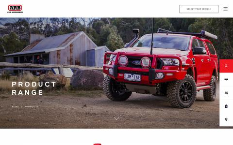 Screenshot of Products Page arb.com.au - ARB 4×4 Accessories | Four Wheel Drive Products - ARB 4x4 Accessories - captured Dec. 12, 2018