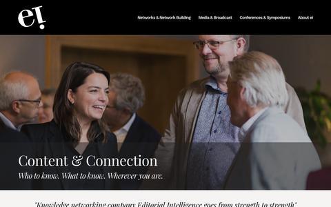 Screenshot of Home Page editorialintelligence.com - Editorial Intelligence - captured July 16, 2018