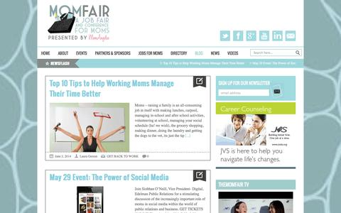 Screenshot of Blog themomfair.com - The MomFair   |  Expert Advice - captured Sept. 24, 2014