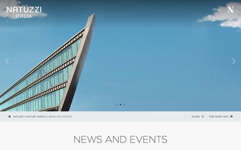 Screenshot of Press Page natuzzi.com - NEWS AND EVENTS | NATUZZI ITALIA - captured June 19, 2017