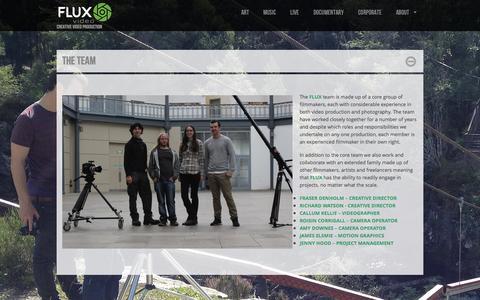 Screenshot of Team Page fluxvideoltd.com - The Team  |  FLUX VIDEO | CREATIVE VIDEO PRODUCTION - captured Oct. 6, 2014