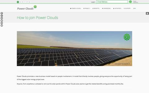 Screenshot of Signup Page powerclouds.com - How to Join Power Clouds - captured Oct. 28, 2014