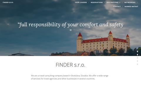 "Screenshot of Home Page slovakiaan.com - FINDER s.r.o. – ""full responsibility of your comfort and safety "" - captured Oct. 1, 2018"