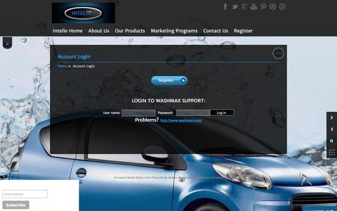 Screenshot of Support Page intelio.com - Account Login   Intelio - captured Feb. 11, 2016