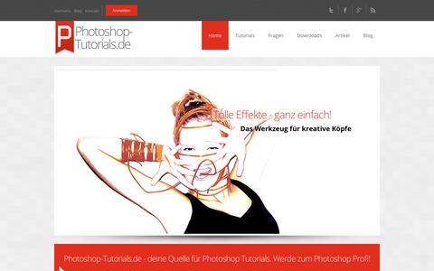 Screenshot of Home Page photoshop-tutorials.de - Photoshop-Tutorials.de - kostenlose Video Tutorials und Workshops - captured June 27, 2018