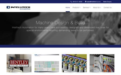 Screenshot of Home Page intellitech.co.nz - Intellitech Automation - captured Oct. 12, 2018
