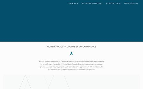 Screenshot of About Page northaugustachamber.org - Our Chamber | North Augusta Chamber of Commerce - captured Dec. 21, 2018