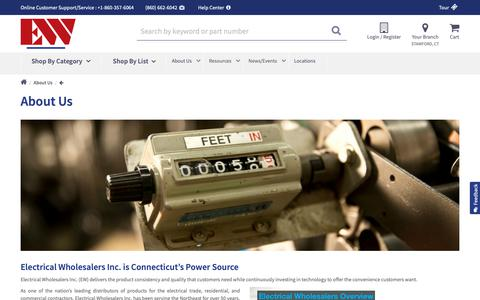 Screenshot of About Page ew-ct.com - About Us | Electric Wholesaler CT - captured Oct. 18, 2018