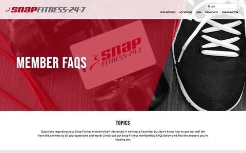 Screenshot of FAQ Page snapfitness.com - Member FAQS – Snap Fitness USA - captured Aug. 9, 2018