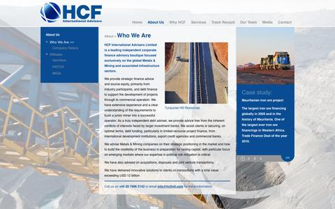 Screenshot of About Page hcfintl.com - Who We Are | HCF International Advisers - captured Oct. 1, 2014