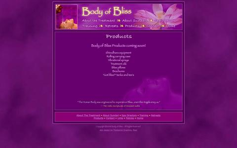 Screenshot of Products Page bodyofbliss.com - Body of Bliss Luxury Spa Treatment - captured Jan. 6, 2016
