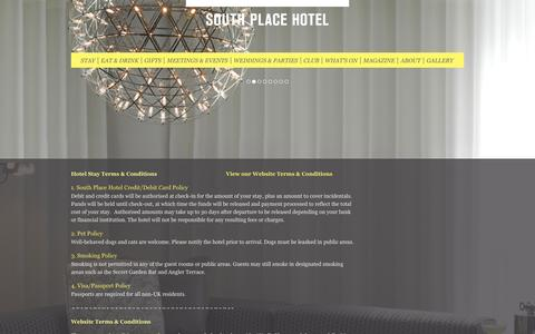 Screenshot of Terms Page southplacehotel.com - Terms & Conditions - South Place Hotel, London - captured Sept. 22, 2014