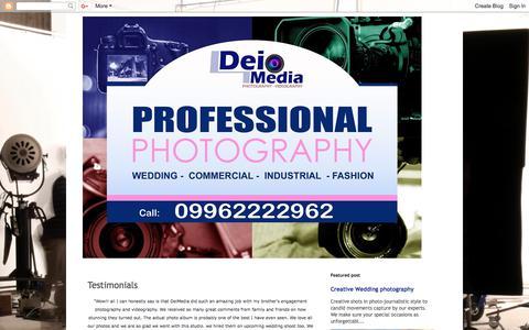 Screenshot of Testimonials Page deimedia.blogspot.com - Commercial Photographer: Testimonials - captured Aug. 6, 2018