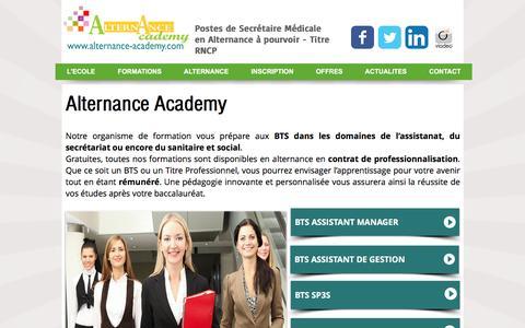 Screenshot of Home Page alternance-academy.com - Alternance Academy - captured March 23, 2017