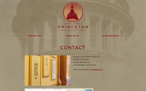 Screenshot of Contact Page ppag.com - Contact - captured Oct. 3, 2014