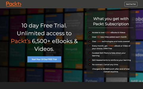 Screenshot of Trial Page packtpub.com - 10 Day Free Trial | Unlimited Access to eBooks & Videos | Packt Subscription - captured Dec. 15, 2018