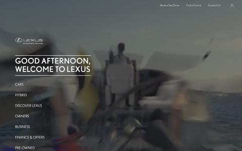 Luxury and Hybrid Cars | Lexus UK