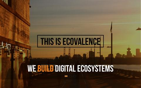 Screenshot of Home Page ecovalence.com - eCovalence - Digital Ecosystems for Small Business - captured Feb. 2, 2016