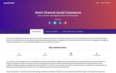 Screenshot of Case Studies Page sambaash.com - Omni Channel Social Commerce - sambaash - captured June 26, 2017