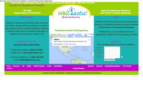 Screenshot of About Page welltastic.com - WellTastic - About Us - captured Oct. 26, 2014
