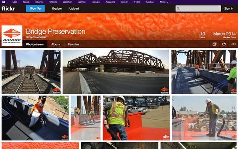 Screenshot of Flickr Page flickr.com - Flickr: BridgePreservation's Photostream - captured Oct. 23, 2014