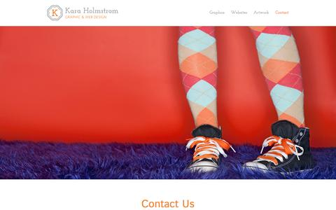Screenshot of Contact Page karaholmstrom.com - Contact – Kara Holmstrom Graphic and Web Design - captured Feb. 12, 2016