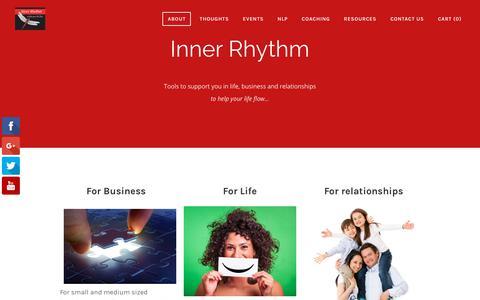 Screenshot of Home Page inner-rhythm.net - Inner Rhythm  - Inner Rhythm: Business and Life Coaching - captured Sept. 20, 2018