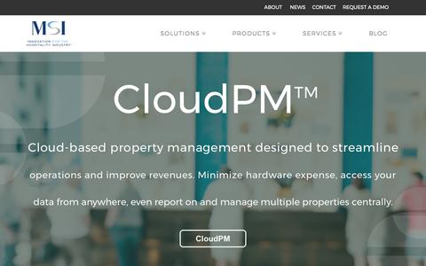 Screenshot of Home Page msisolutions.com - Hotel Property Management Software | MSI Solutions - captured Oct. 25, 2017
