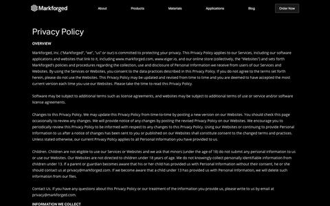 Privacy Policy – Markforged