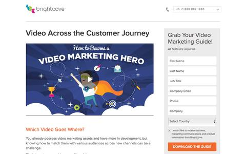 Screenshot of Landing Page brightcove.com - Brightcove | Video Marketing Across the Customer Journey - captured April 13, 2018