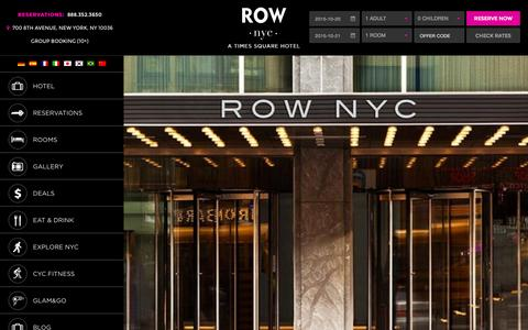 Screenshot of Contact Page rownyc.com - Contact Row NYC Hotel - Hotel in Times Square - Row NYC - captured Oct. 20, 2015