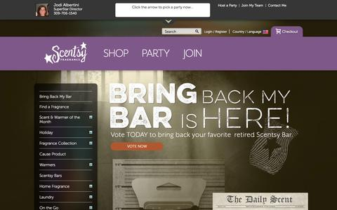 Screenshot of Products Page scentsy.us - Scentsy - We Make Perfect Scents! - captured Oct. 3, 2014
