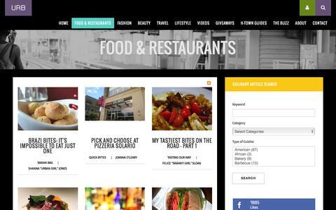 Screenshot of Blog urbanswankblog.com - Urban Swank | Houston Food Blog - captured Feb. 27, 2016