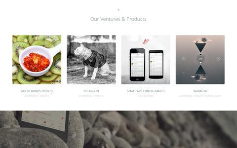 Screenshot of Home Page digi-cult.in - Digi-Cult - Digital UI UX Design Agency (India) | UI Design | User Experience | Goosebumps Pickles | UX | Mobile App | iOS Apps | Android Apps | eCommerce Website - captured Aug. 1, 2016