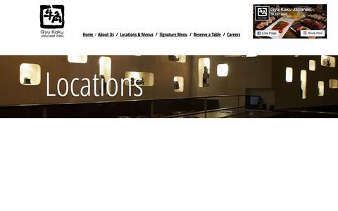 Screenshot of Locations Page gyu-kaku.com - Gyu-Kaku Japanese BBQ   Locations & Menus - captured June 25, 2017