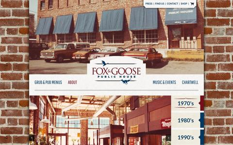 Screenshot of About Page foxandgoose.com - About - Fox and Goose : Fox and Goose - captured April 22, 2016