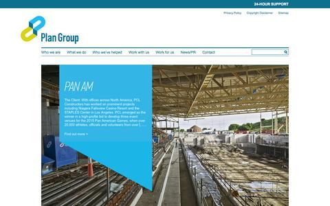 Screenshot of Case Studies Page plan-group.com - Case Studies | Plan Group - captured Sept. 30, 2014