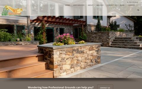 Screenshot of Home Page progrounds.com - Home - Professional Grounds - captured Sept. 17, 2015