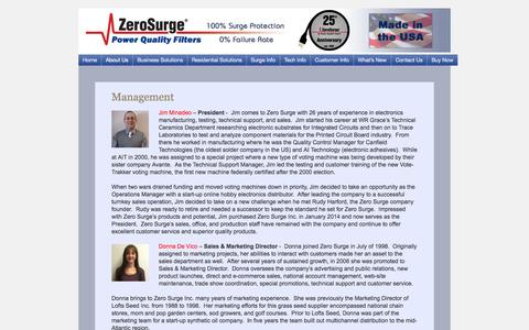Screenshot of Team Page zerosurge.com - Management | Zero Surge - captured Oct. 27, 2014