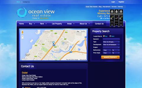 Screenshot of Contact Page oceanviewdubai.com - Contact Us - Ocean View Real Estate Dubai - captured Oct. 27, 2014