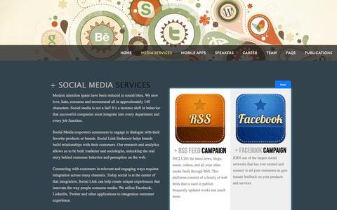 Screenshot of Services Page slendeavor.com - Media Services | Social Link Endeavor - captured Oct. 6, 2014