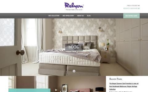 Screenshot of Blog relyon.co.uk - Blog – Relyon - captured June 13, 2017