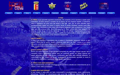 Screenshot of Trial Page motoclubtrialcava.it - Motoclub Trial Cava, scopri il mondo del Trial in Campania - captured May 31, 2016
