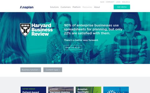 Resources | Anaplan